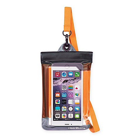 Travelon® Waterproof Smart Phone/Digital Camera Pouch in Orange