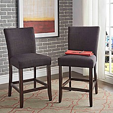 image of Verona Home Tosca Linen Counter Chair (Set of 2)