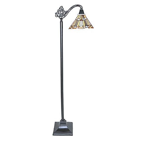 Mission style pharaoh 39 s jewel sidearm floor lamp bed for Mission style flooring