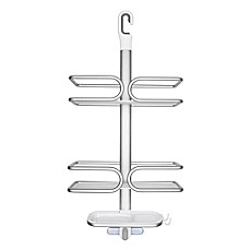 Image Of OXO Good GripsR 3 Tier Shower Caddy In Aluminum