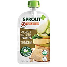 image of Sprout® 4-Ounce Stage 3 Organic Baby Food in Market Vegetables & Pear with Turkey