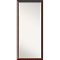image of Amanti Art Cyprus Floor/Leaner Mirror in Walnut