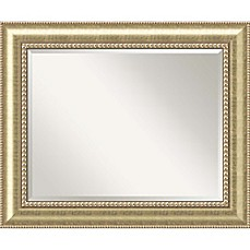 image of 35inch x 29inch astoria bathroom mirror in champagne