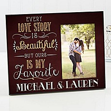 image of Love Story Couple Picture Frame