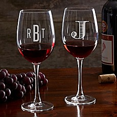image of Classic Celebrations 19.25 oz. Red Wine Glass with Monogram