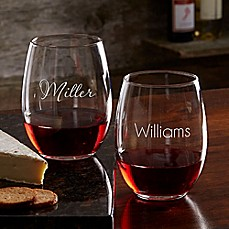 image of Classic Celebrations 21 oz. Stemless Wine Glass with Name