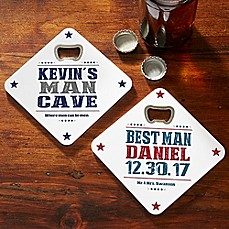 image of Write Your Own Beer Bottle Opener Coaster