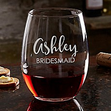 image of Bridal Party 21 oz. Stemless Wine Glass