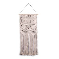 image of Hand-Knitted Wall Hanging in Beige