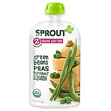 image of Sprout® 4 oz. Stage 2 Organic Baby Food in Green Beans, Peas, & Butternut Squash