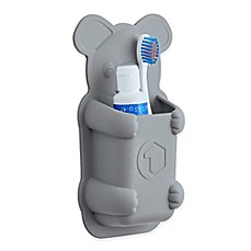 image of tooletries koala pouch silicone toothbrush holder