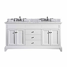 image of Eviva Elite Stamford® 72-Inch Double Bathroom Vanity in White/White