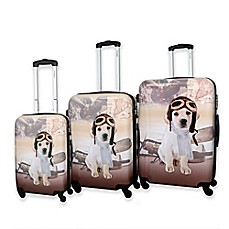 image of Chariot Oldies 3-Piece Luggage Set in Beige