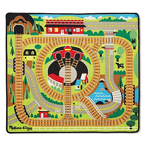 Melissa Doug Reg Round The Rails Train Play Rug