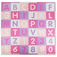 image of Tadpoles ABC 60-Piece Play Mat in Pink/Purple