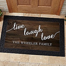 image of Live, Laugh, Love Door Mat