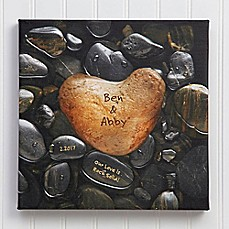 image of Heart Rock Canvas Print