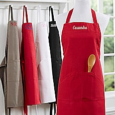 Image Of Embroidered Name Kitchen Apron