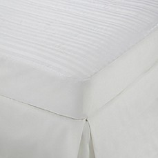 image of Martex Damask Stripe Mattress Pad in White