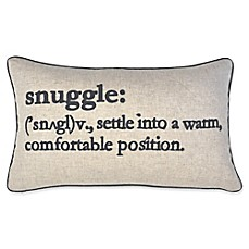 image of Snuggle Definition Oblong Throw Pillow in Navy