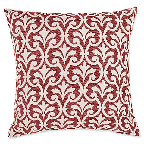 Make Your Own Decorative Pillow Covers : Make-Your-Own-Pillow Amber Square Throw Pillow Cover in Red - Bed Bath & Beyond