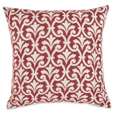 Decorative Pillow Makers : Make-Your-Own-Pillow Amber Square Throw Pillow Cover in Red - Bed Bath & Beyond