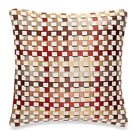make-your-own-pillow crisscross square throw pillow cover in red Make Your Own Throw Pillow Covers