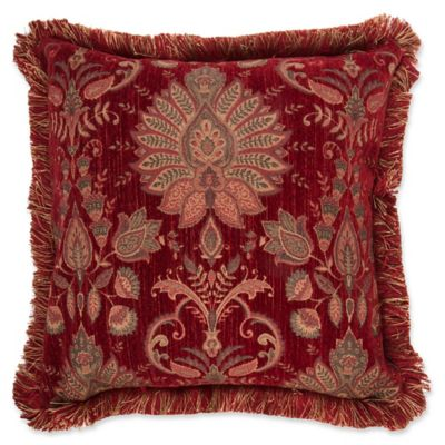 Decorative Pillow Makers : Make-Your-Own-Pillow Heritage Square Throw Pillow Cover in Red - Bed Bath & Beyond