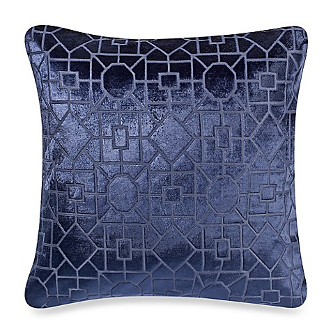 Make Your Own Decorative Pillow Covers : Make-Your-Own-Pillow Alex Velvet Square Throw Pillow Cover in Navy - Bed Bath & Beyond