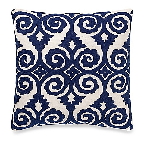 Make Your Own Decorative Pillow Covers : Make-Your-Own-Pillow Franz Square Throw Pillow Cover in Navy - Bed Bath & Beyond
