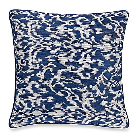 Make-Your-Own-Pillow Pietra Square Throw Pillow Cover in Navy - Bed Bath & Beyond