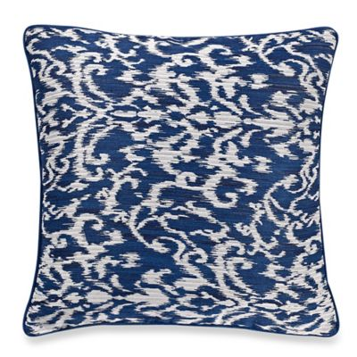 Decorative Pillow Makers : Make-Your-Own-Pillow Pietra Square Throw Pillow Cover in Navy - Bed Bath & Beyond