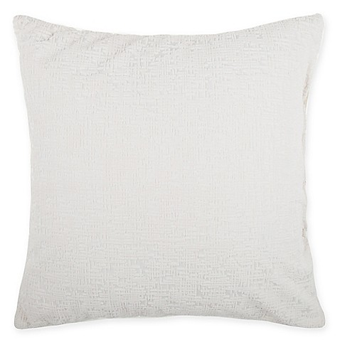 buy make your own pillow motley square throw pillow cover in white from bed bath beyond. Black Bedroom Furniture Sets. Home Design Ideas