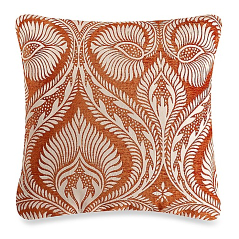Make Your Own Decorative Pillow Covers : Make-Your-Own-Pillow Burma Damask Square Throw Pillow Cover in Rust - Bed Bath & Beyond