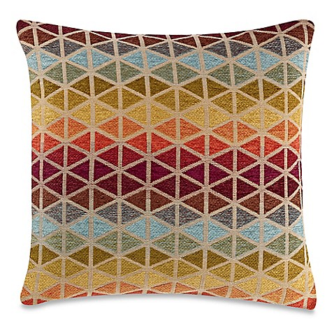 make-your-own-pillow gogo rainbow square throw pillow cover in rust Make Your Own Throw Pillow Covers