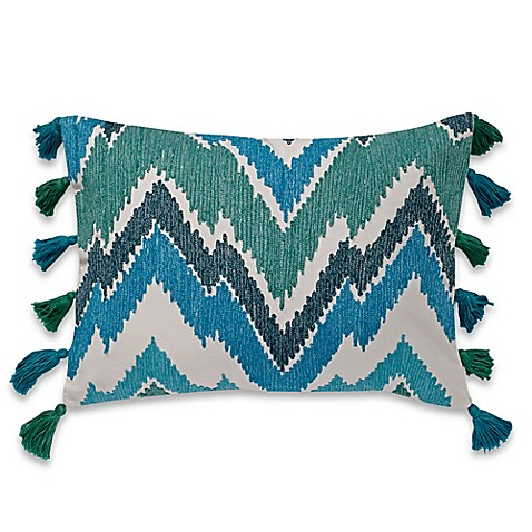make-your-own-pillow tassels oblong throw pillow cover in teal - bed Make Your Own Throw Pillow Covers