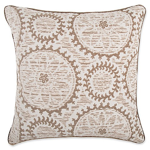 make your own pillow helix medallion square throw pillow cover in taupe bed bath beyond. Black Bedroom Furniture Sets. Home Design Ideas