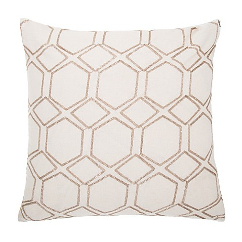 make your own pillow lowry square throw pillow cover in beige bed bath beyond. Black Bedroom Furniture Sets. Home Design Ideas