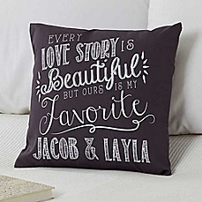 image of Love Quotes Keepsake Square Throw Pillow