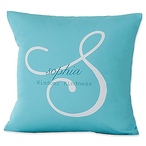 Pillow Cases > Name Meaning Keepsake 18-Inch Square Throw Pillow from Buy Buy Baby