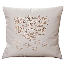 image of Grandchildren Fill Our Hearts Keepsake Square Throw Pillow