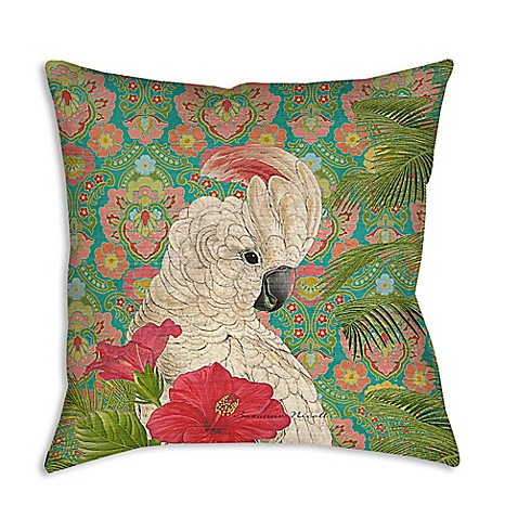 Palm Beach Cockatiel Square Indoor/Outdoor Throw Pillow - Bed Bath & Beyond
