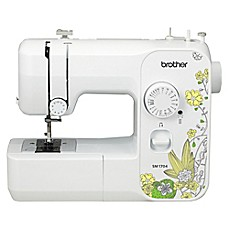 image of Brother Sewing Machine in White/Yellow