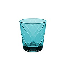 image of Certified International Diamond Double Old Fashioned Glasses in Teal (Set of 8)
