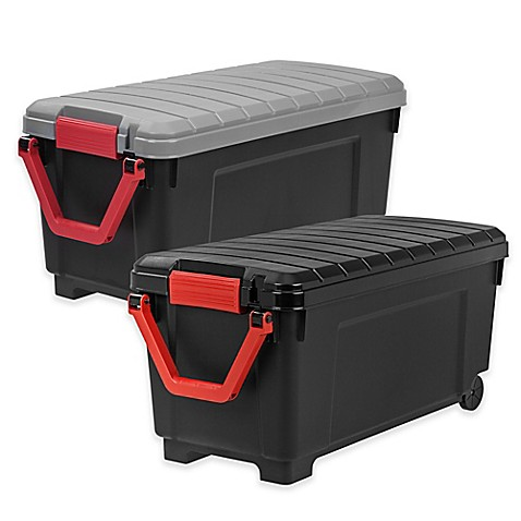 Rolling Storage Tote Collection In Black