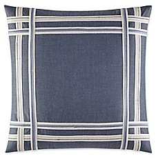 image of Nautica® Fairwater Embroidered Tape Throw Pillow in Medium Blue