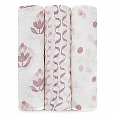 image of Petunia Pickle Bottom® by aden + anais® 3-Pack Swaddle in Tuscan Twilight