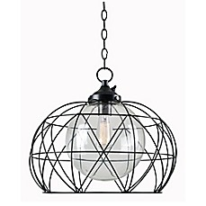 image of Cavea Ceiling Outdoor Pendant in Oil Rubbed Bronze