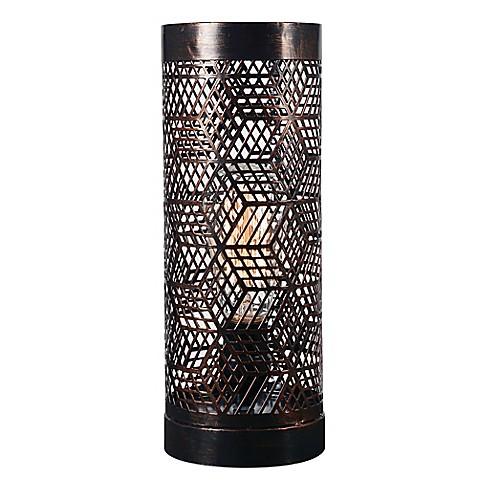 Kenroy Home Rubik Uplight Accent Lamp In Copper Bronze