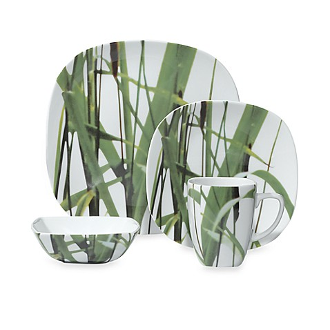 Euro Ceramica New Grass 16-Piece Dinnerware Set
